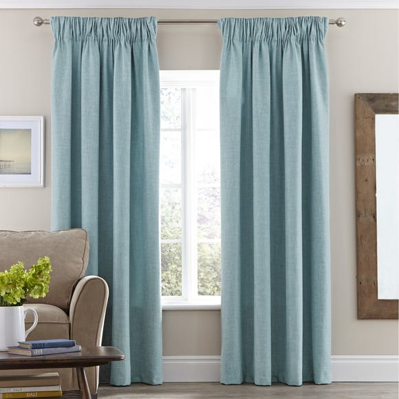 Vermont Duck-Egg Pencil Pleat Curtains  undefined