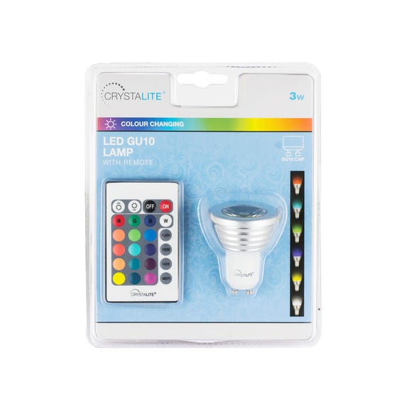Status 3 Watt LED Colour Changing GU10 Bulb White