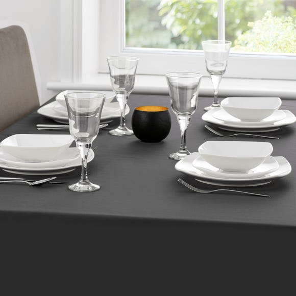 Spectrum Round Tablecloth Black