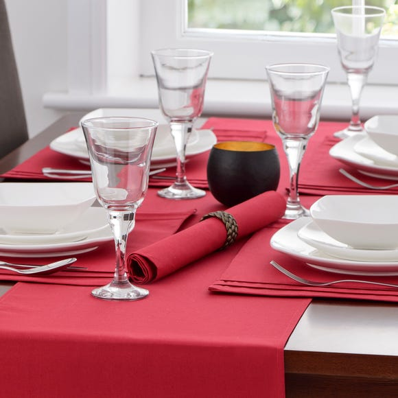 Spectrum Red Pack of 4 Napkins Red