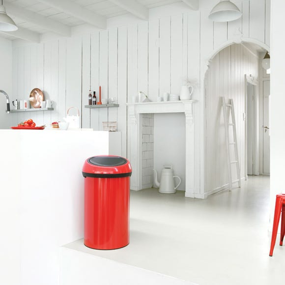 Brabantia Red 60 Litre Touch Bin Red