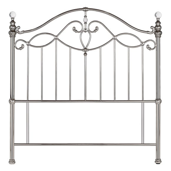Catalina Shiny Nickel Headboard Nickel undefined