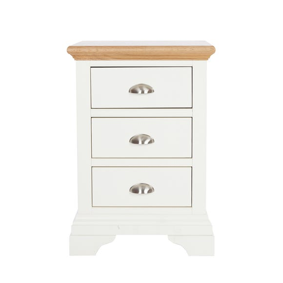 Eaton Cream 3 Drawer Bedside Table Cream