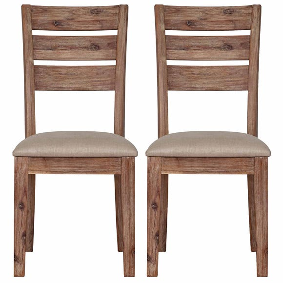 Harvey Set of 2 Dining Chairs Grey Grey