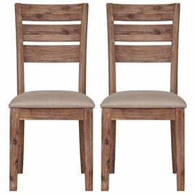 Harvey Set of 2 Dining Chairs Grey