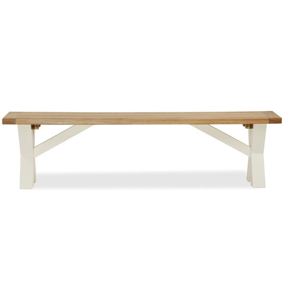 Wilby Dining Bench Cream Cream