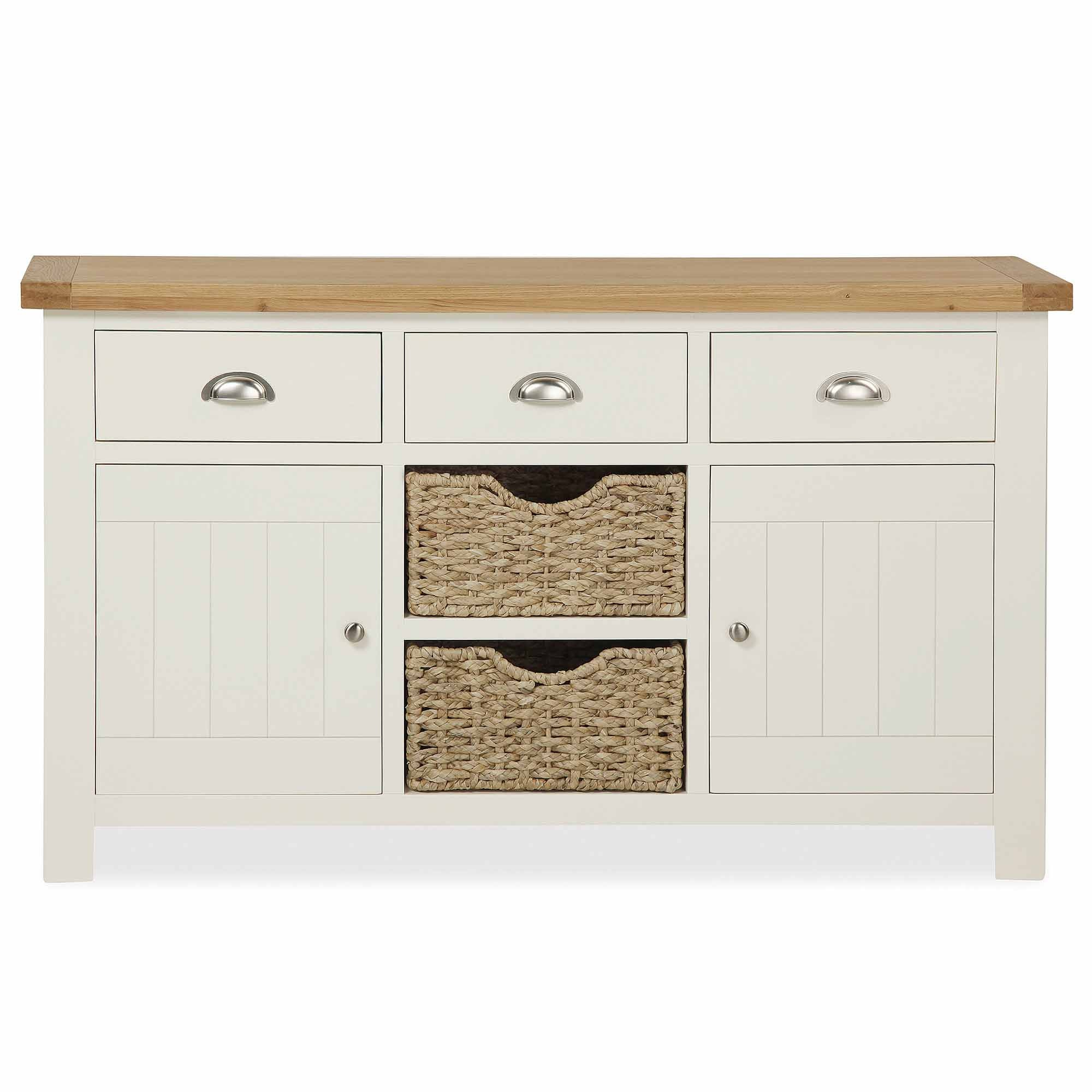 Wilby Cream Large Sideboard White