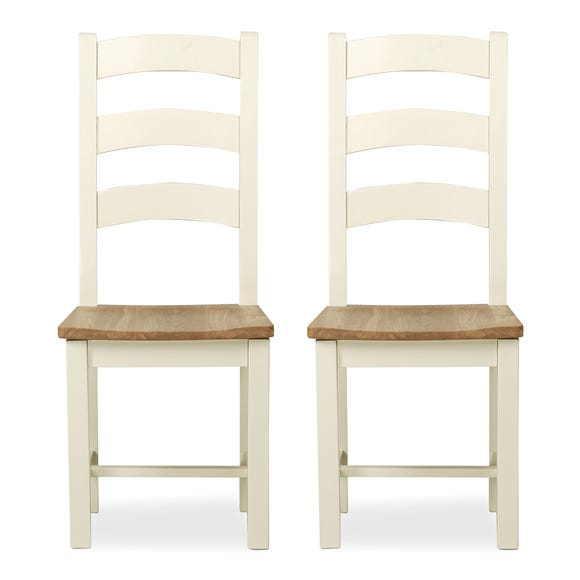 Wilby Set of 2 Dining Chairs Cream Cream