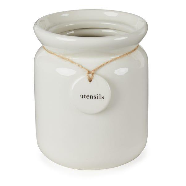 Hang Tag Utensil Jar Cream (Natural)