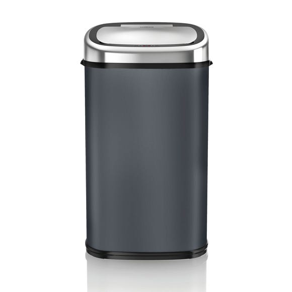 Tower 58 Litre Charcoal Square Sensor Bin Grey
