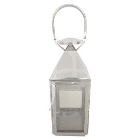 Chrome Metal Lantern