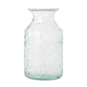 Glass Embossed Bud Vase