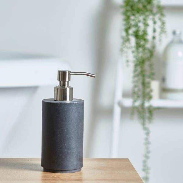 Grey Resin Lotion Dispenser Grey