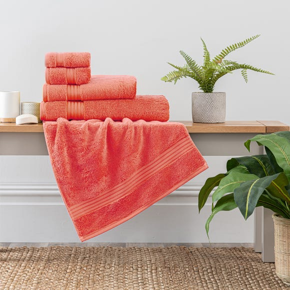Coral Egyptian Cotton Towel Coral (Red) undefined