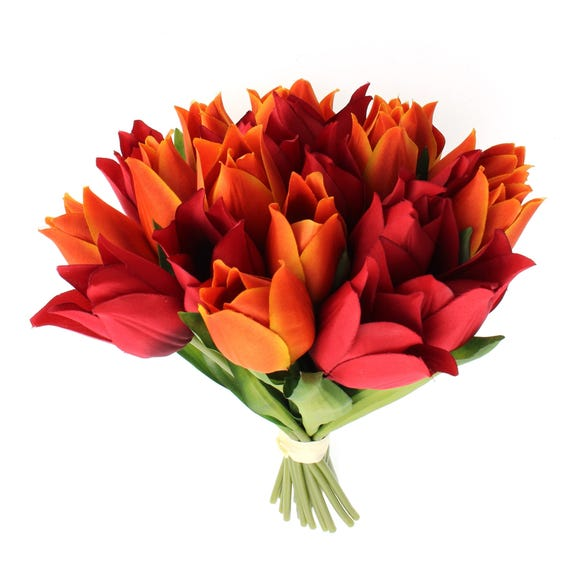 Artificial Tulip Bouquet 29cm Orange