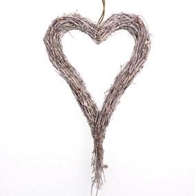 Artificial Long Green Rattan Heart x cm 62cm