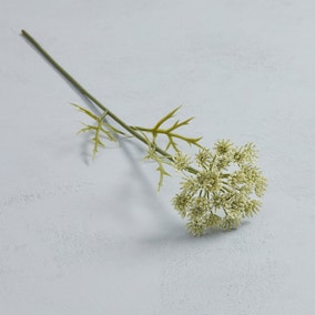 Artificial Queen Annes Lace Flower Single Stem 55cm