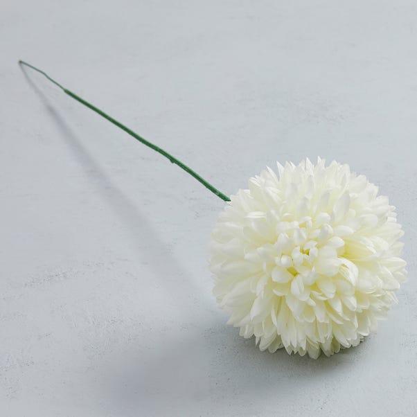 Artificial Pompom Flower Single Stem 72cm Cream
