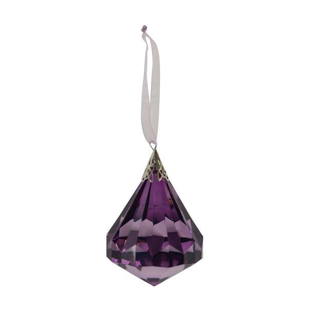 Mauve Decorative Hanging Jewel Mauve (Purple)