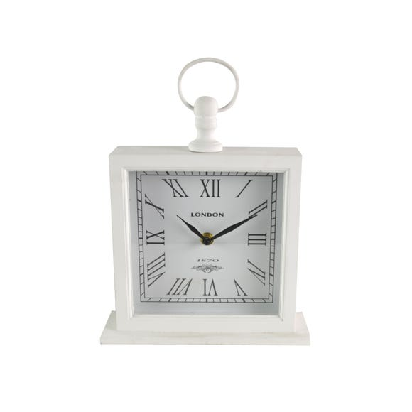 Large White Mantel Clock White