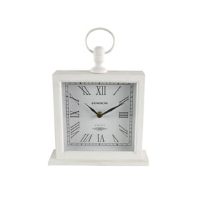 Large White Mantel Clock