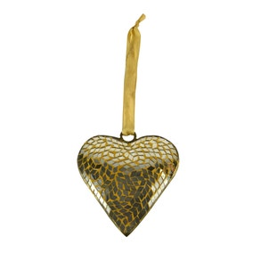 Gold Mosaic Hanging Heart