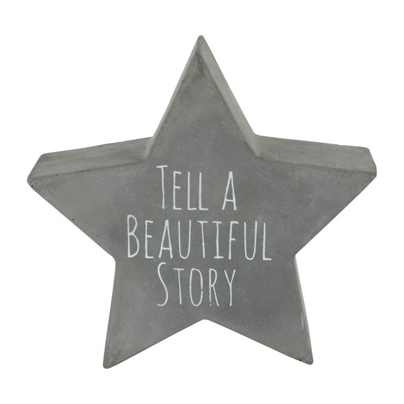 Tell a Beautiful Story Star Grey Plaque Grey