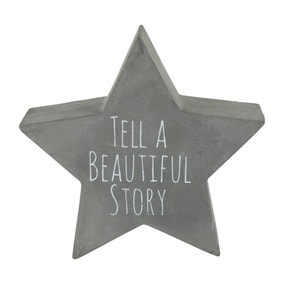 Tell a Beautiful Story Star Grey Plaque