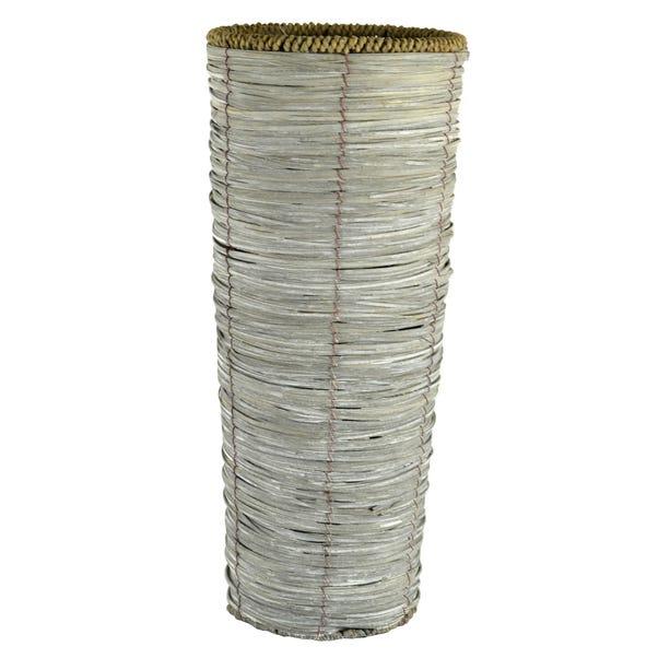 Grey Woven Taper Vase Grey