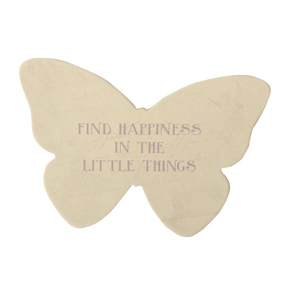 Butterfly Standing Plaque Mauve