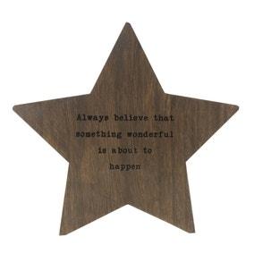 Wooden Standing Star Plaque