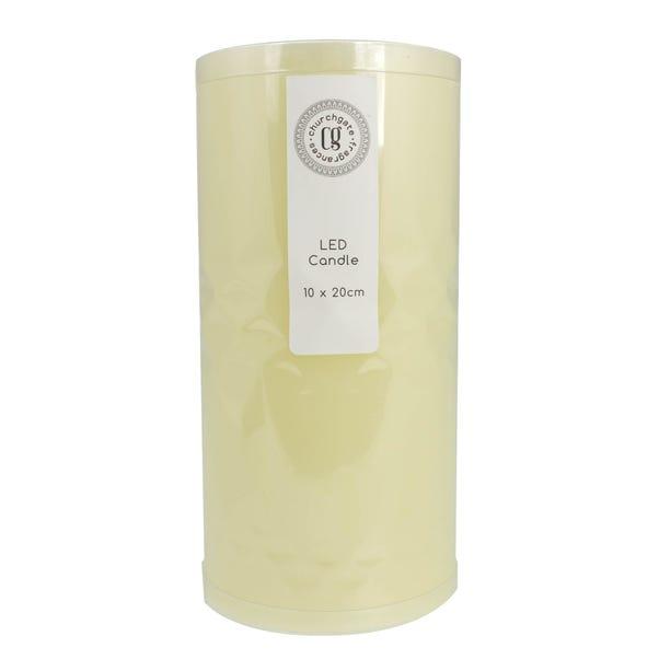 LED Cream Church Candle Cream
