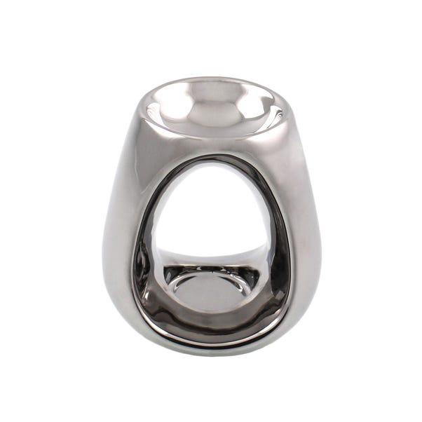 Silver Oil Burner Silver