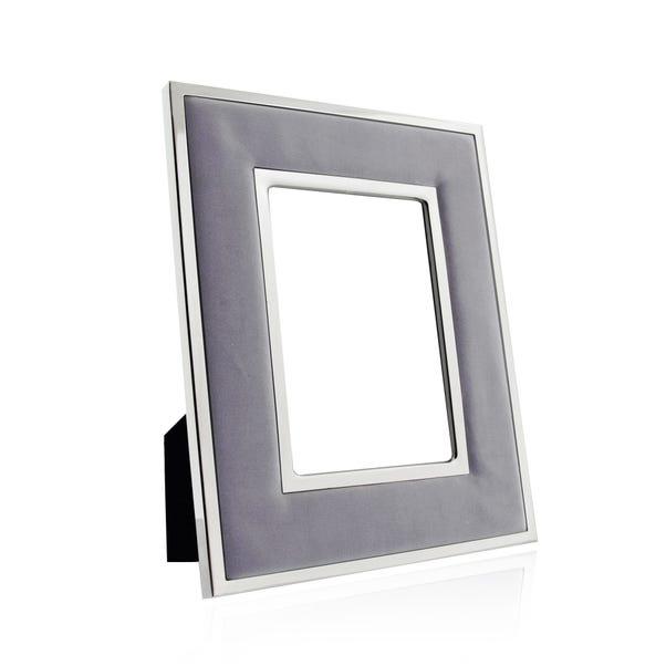 """Hotel Grey Faux Suede Photo Frame 6"""" x 4"""" (15cm x 10cm) Grey"""