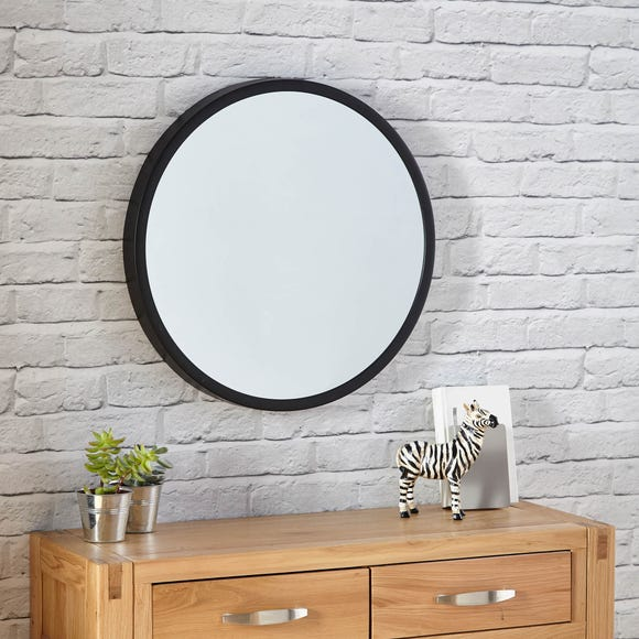 Elements Round Wall Mirror 55cm Black Black