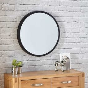 Elements Round Wall Mirror 55cm Black