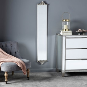 Ornate Wall Mirror 135x 21cm Silver