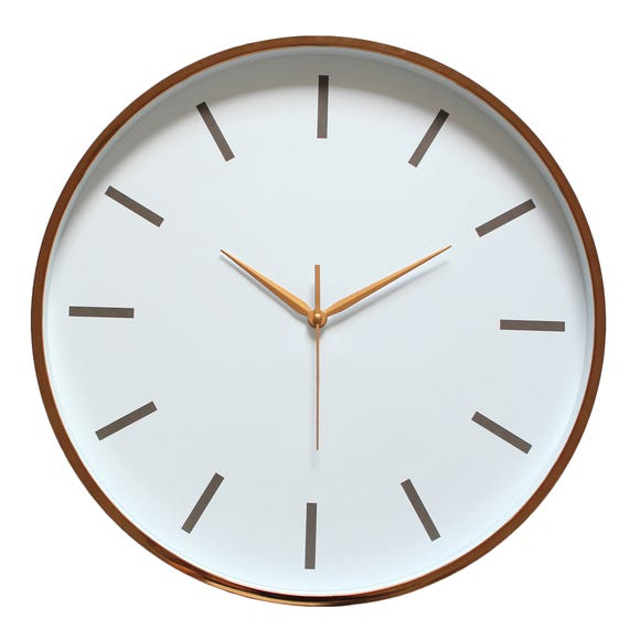 Metallic 45cm Wall Clock Copper Copper
