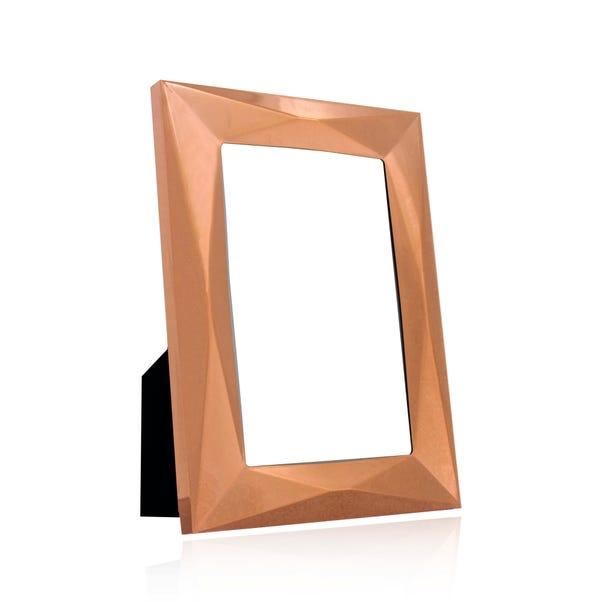 "Copper Pressed Metal Photo Frame 6"" x 4"" (15cm x 10cm) Copper"
