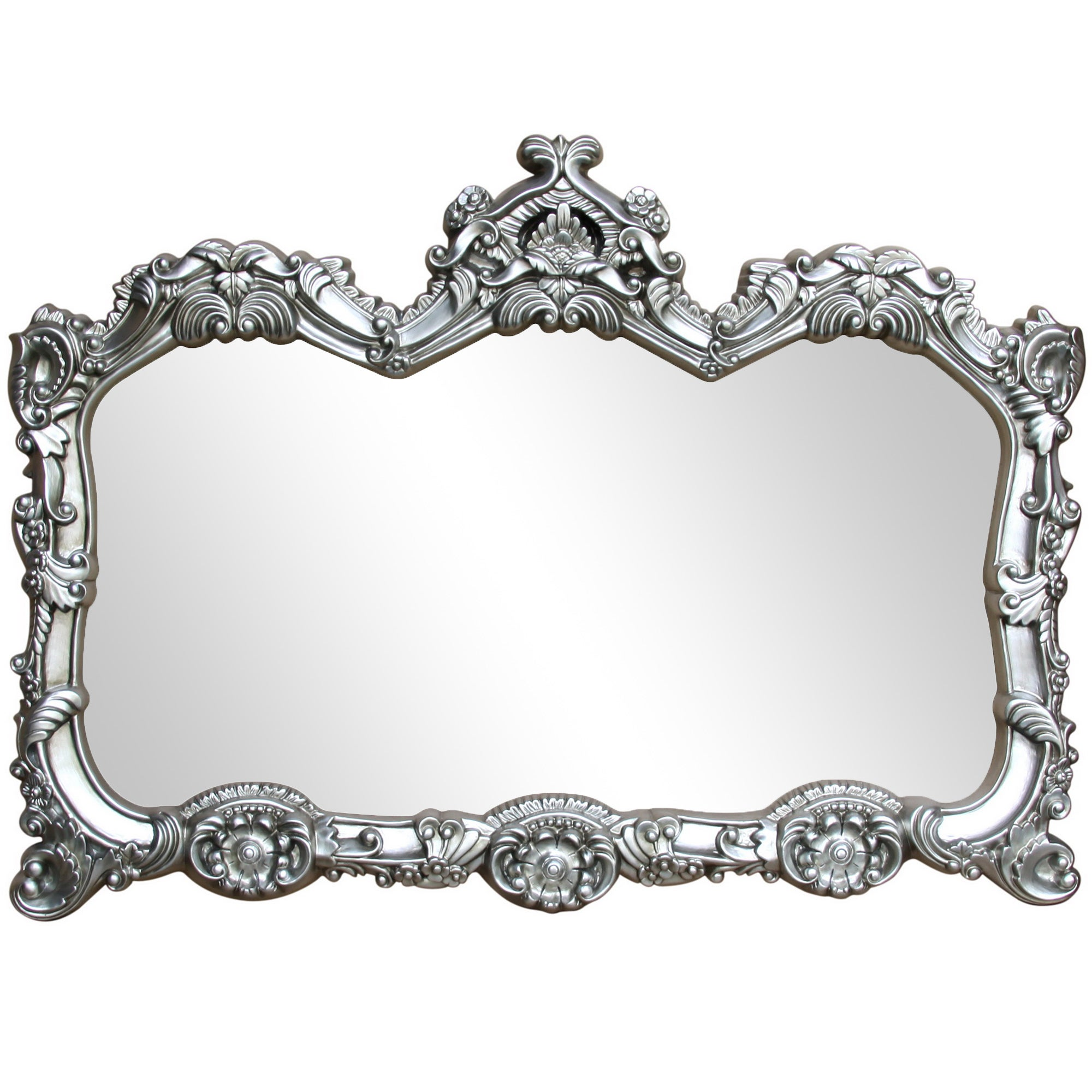 Click to view product details and reviews for Ormolu Ornate Wall Mirror 85x117cm Silver Silver.