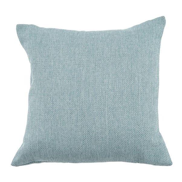 Barkweave Square Cushion Blue undefined