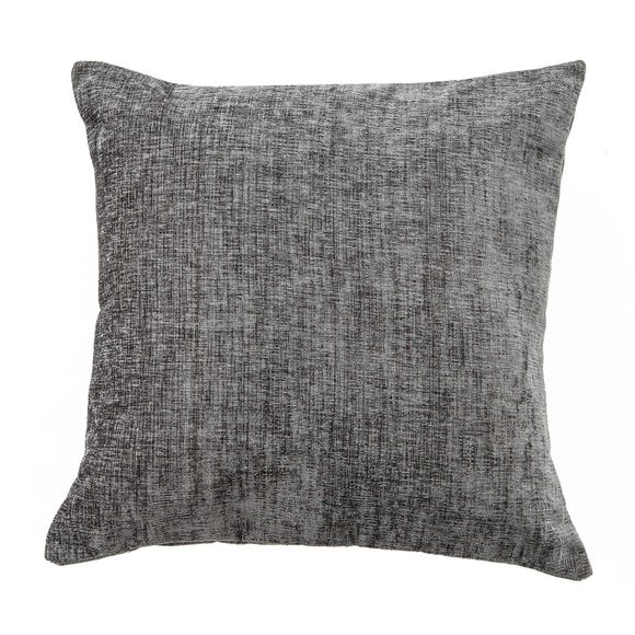 Chenille Cushion Charcoal (Grey) undefined