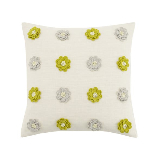 Lexi Ditsy Floral Cushion Ochre