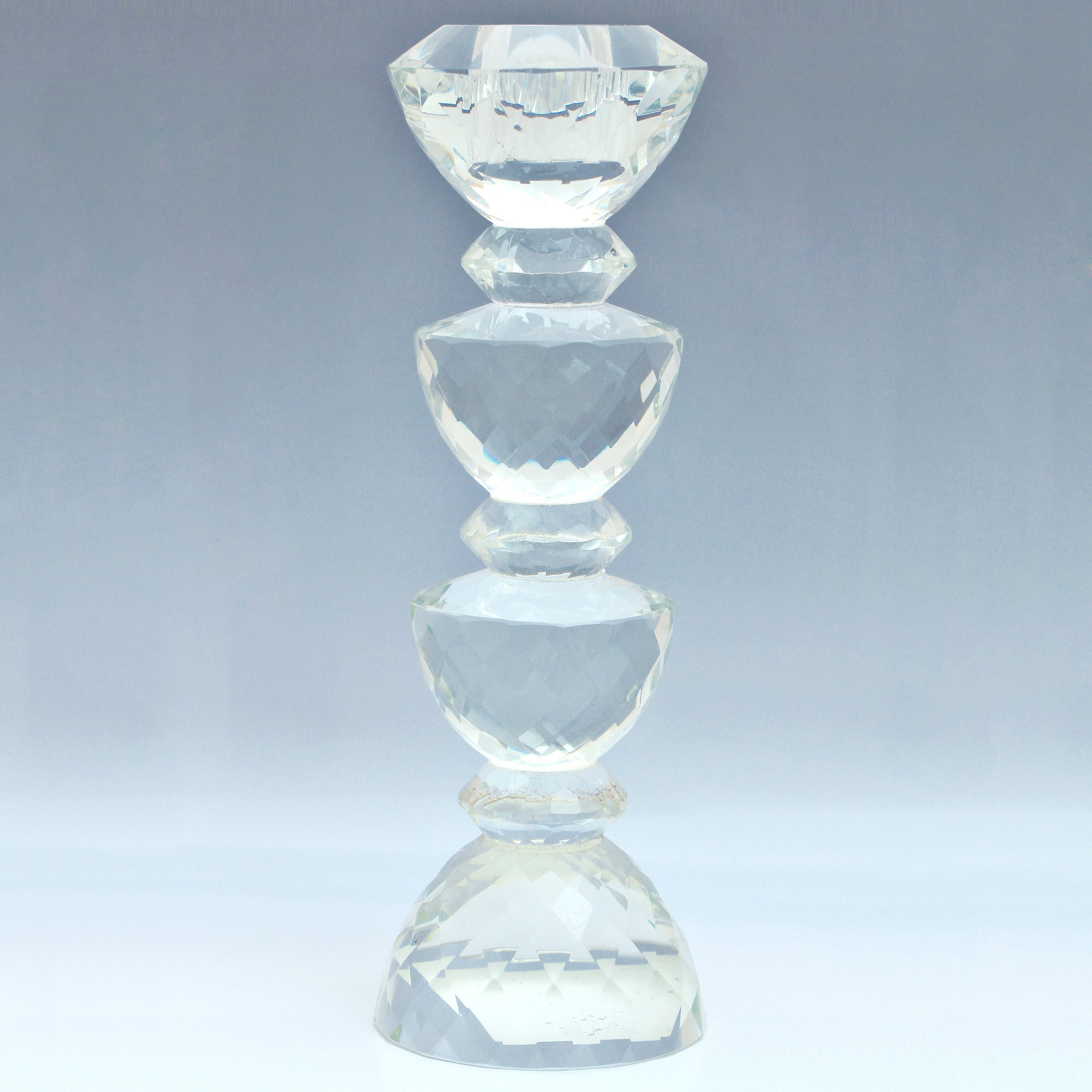 Click to view product details and reviews for Dorma Cut Glass Candlestick Clear.