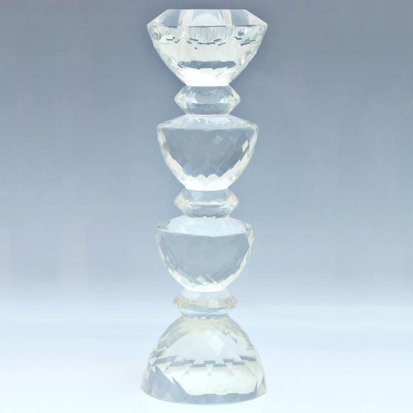 Dorma Cut Glass Candlestick Clear undefined