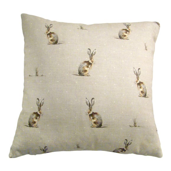 Hares Cushion Cover Natural