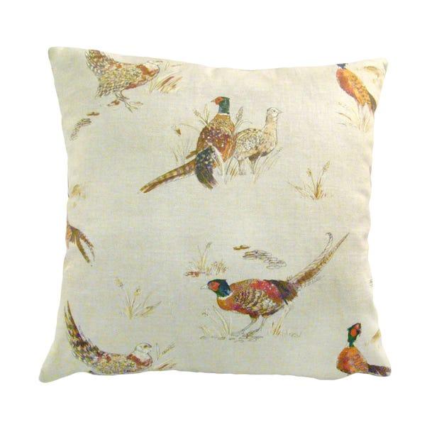 Pheasants Square Cushion Cover Natural