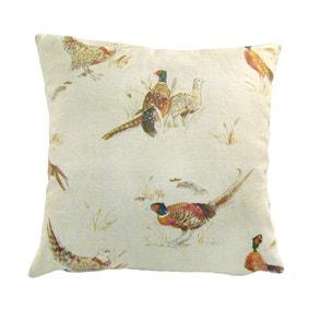 Pheasants Square Cushion Cover