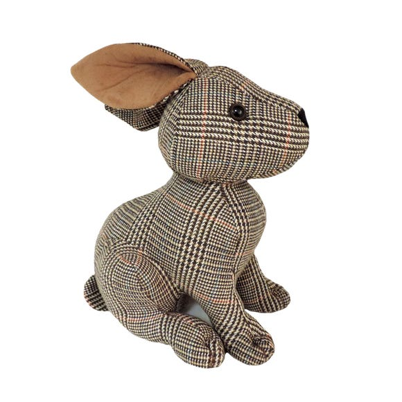 Country Hare Doorstop Natural