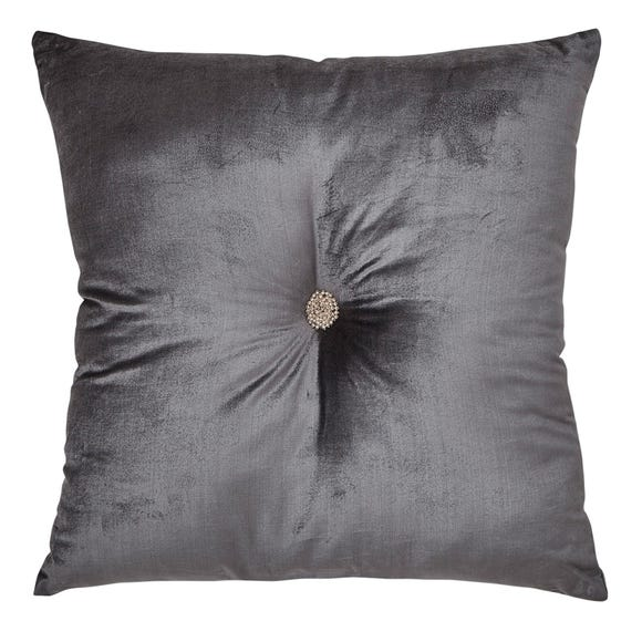 Large Geo Luxe Cushion Silver